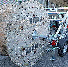 Cable reel trailer KTA image gallery picture 2
