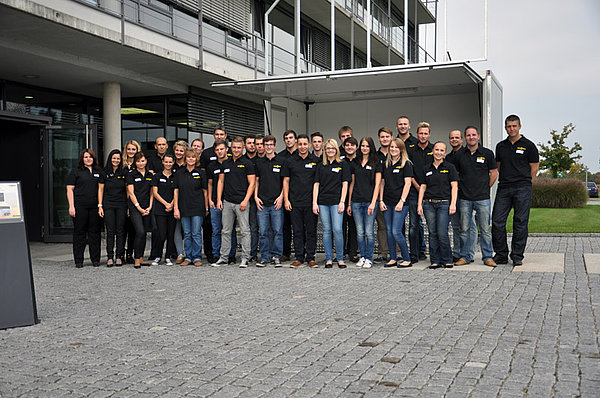 Humbaur GmbH participants at the Jobshuttle information event for apprentices.