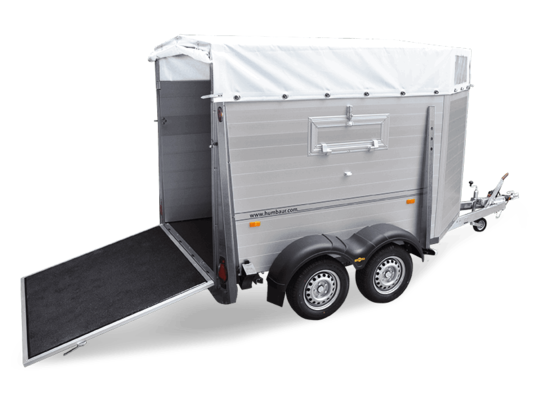 Trailer Tandem, Alu, slant front in detail