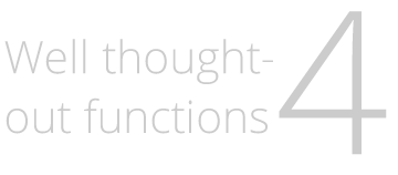 Well thought-out functions