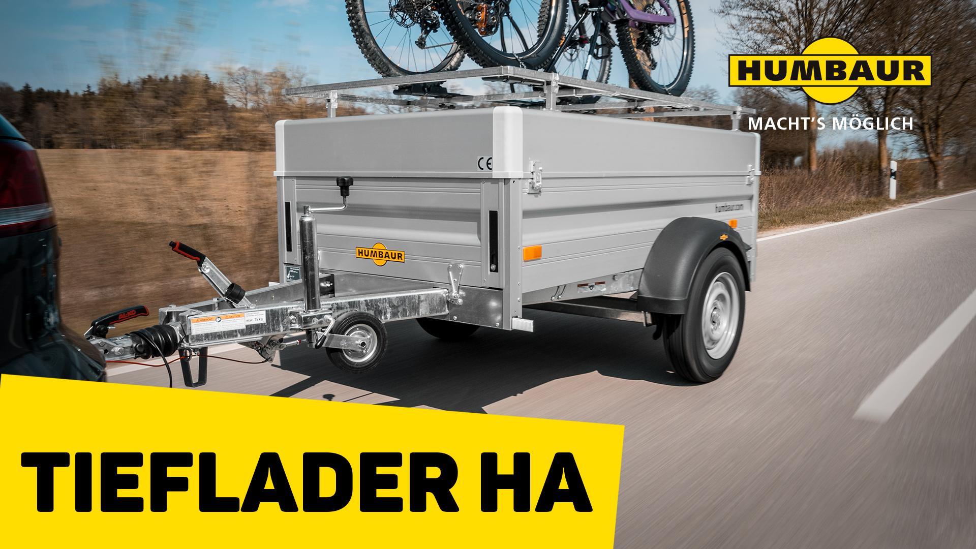 Humbaur Tieflader HA zum Fahrradtransport