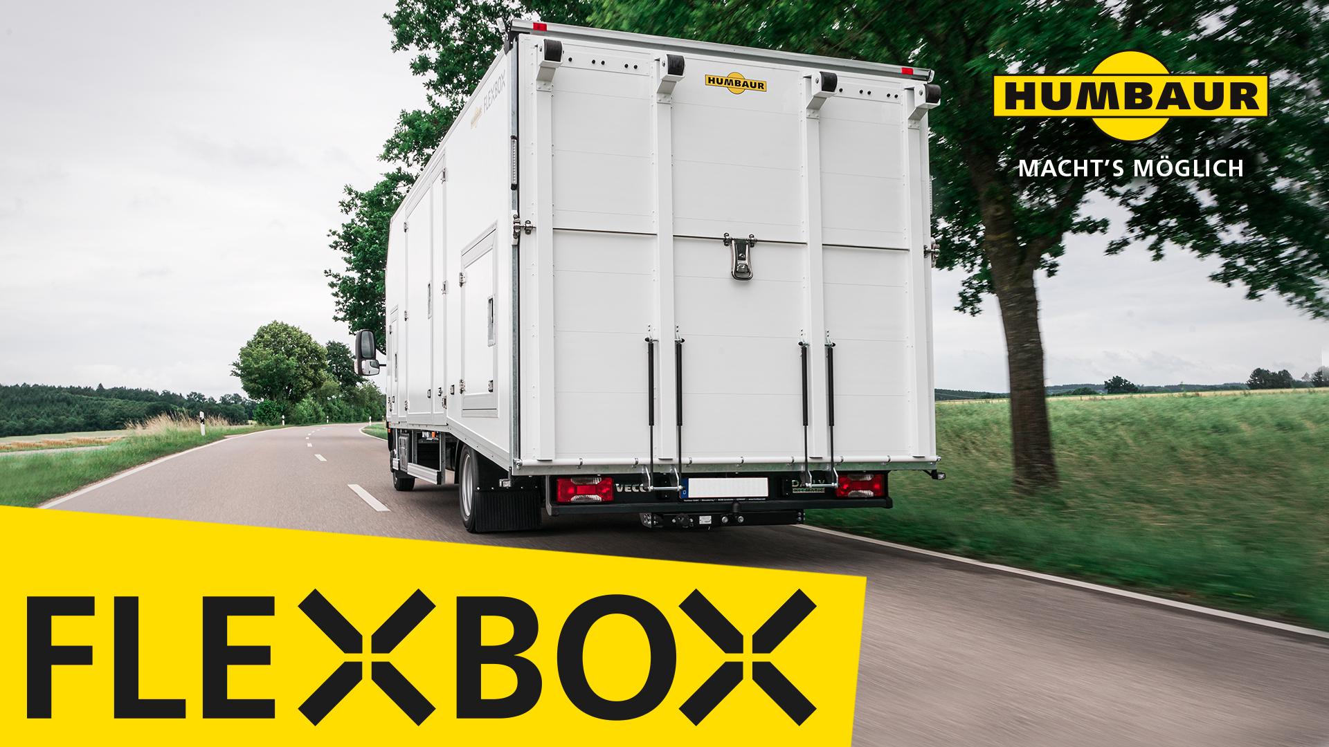 Entdecken Sie die Humbaur FlexBox Fahrzeugtransporter im Einsatz